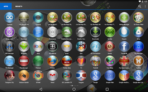 Icon Pack Wallpapers 3D Bubble v1.1