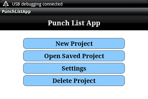 Construction Punch List - screenshot
