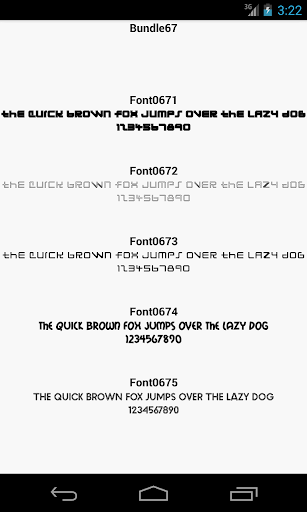 Fonts for FlipFont 67
