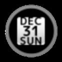 DateBar White English icon