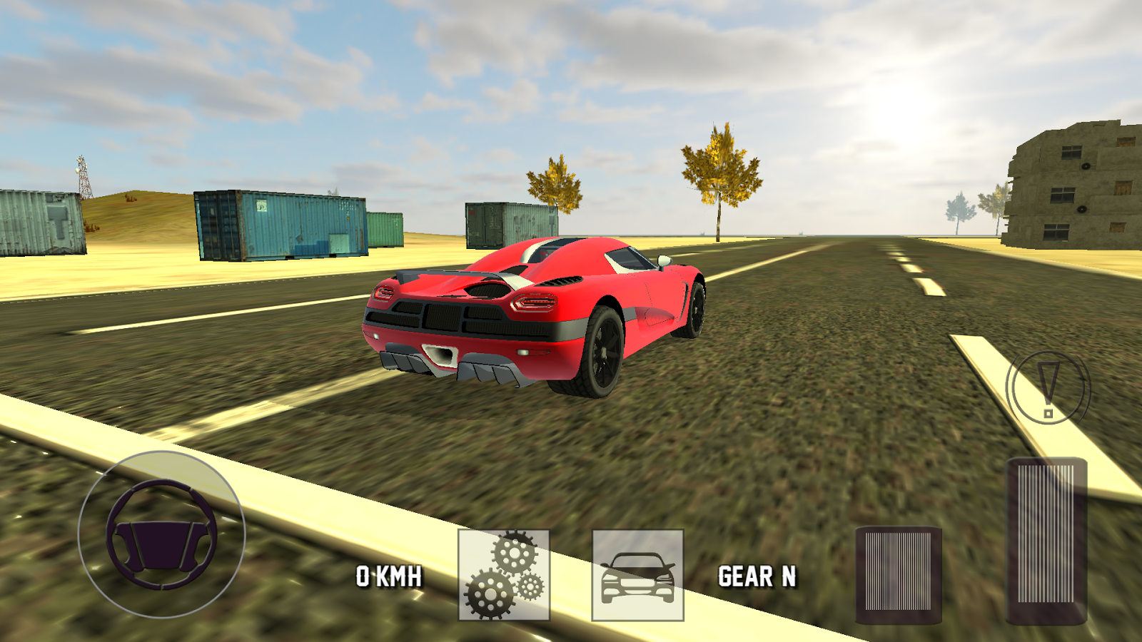 super sport car simulator screenshot