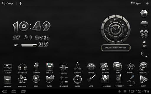 個人化必備免費app推薦|時計じかけの LWP HD 黒檀線上免付費app下載|3C達人阿輝的APP