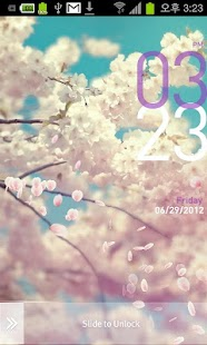 [Tia Lock] Sakura Free Theme - screenshot thumbnail