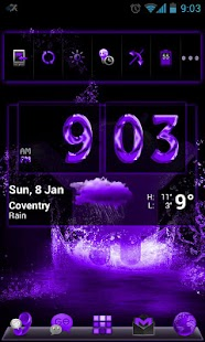 GOLauncherEx Theme DeepPurple - screenshot thumbnail
