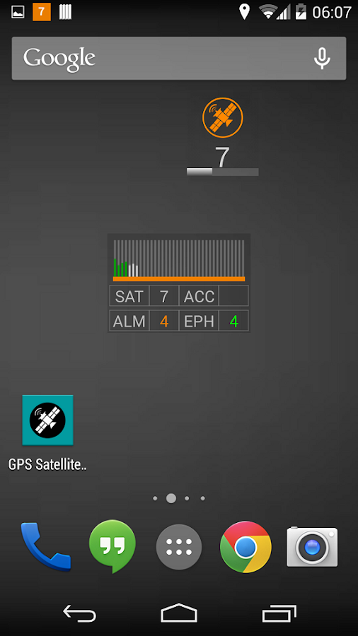 GPS Satellite Widget - screenshot