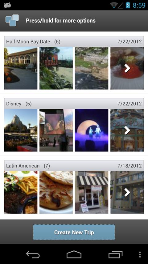 Trippin - Yelp Trip Planner - screenshot