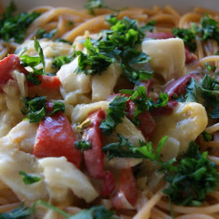 Pasta with Hake in Coconut Sauce