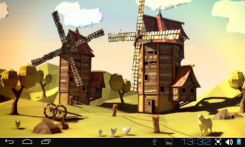 Paper Windmills 3D Pro lwp- screenshot