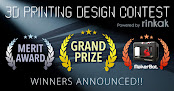 The Rinkak 3D Printing Design Contest Winners Announced
