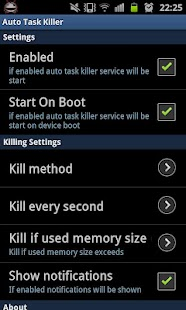 Auto Task Killer- screenshot thumbnail
