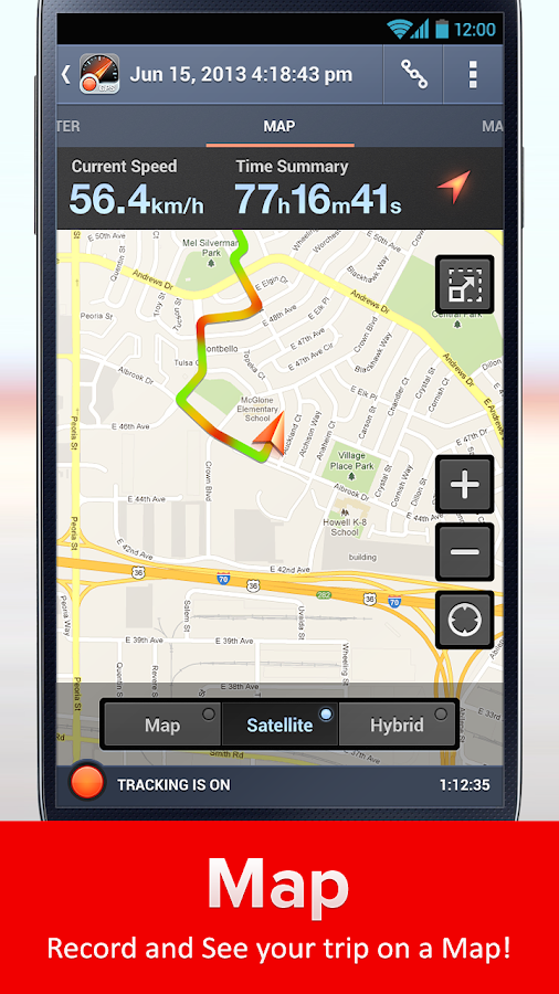 Speed Tracker, GPS speedometer - screenshot