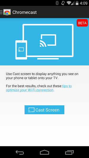 Cast Your Android Screen From The Chromecast App