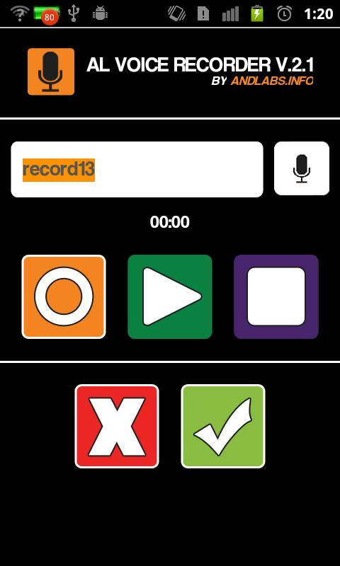 AL Voice Recorder- screenshot