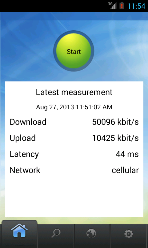 Netradar mobile speed test- screenshot