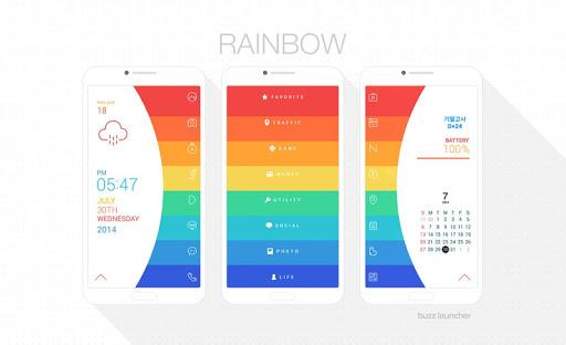Rainbow Buzz Launcher Theme
