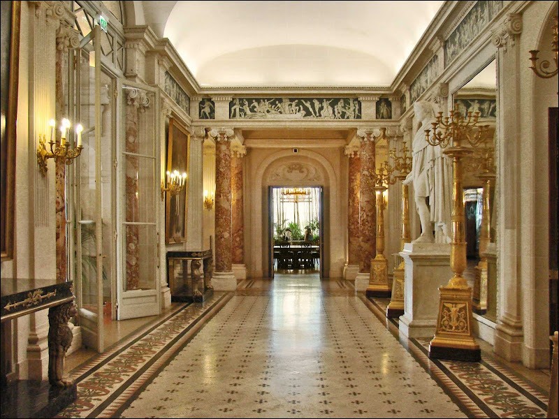 The Grand Gallery of the Villa Masséna museum in Nice, France.