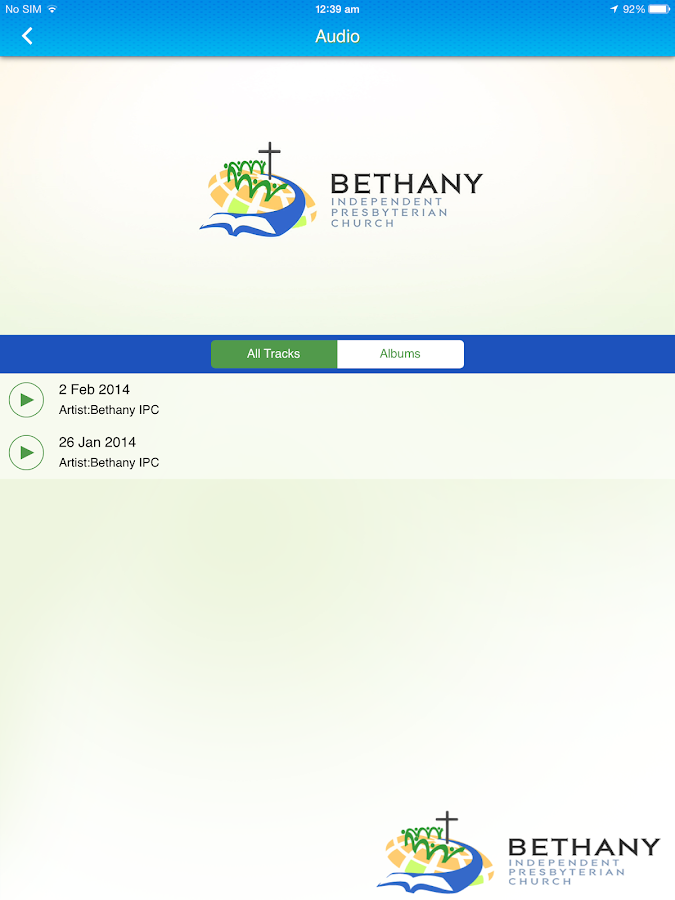 Bethany IPC- screenshot