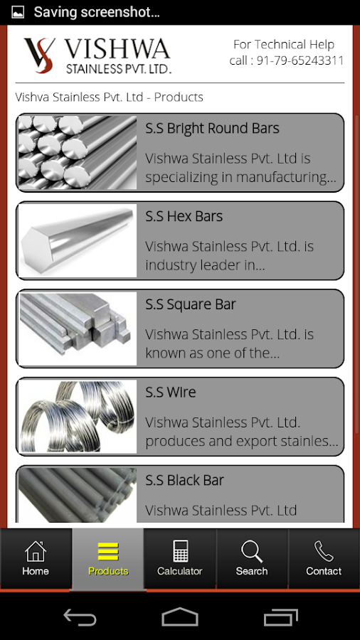 Vishwa Stainless- screenshot