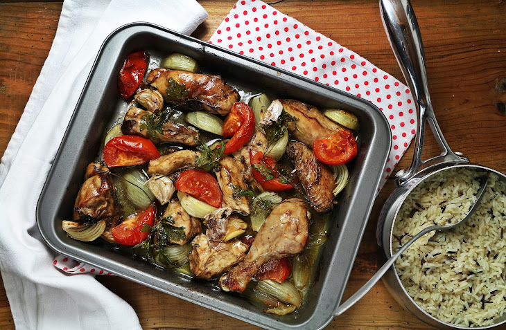 Roast Chicken and Baked Rice Recipe