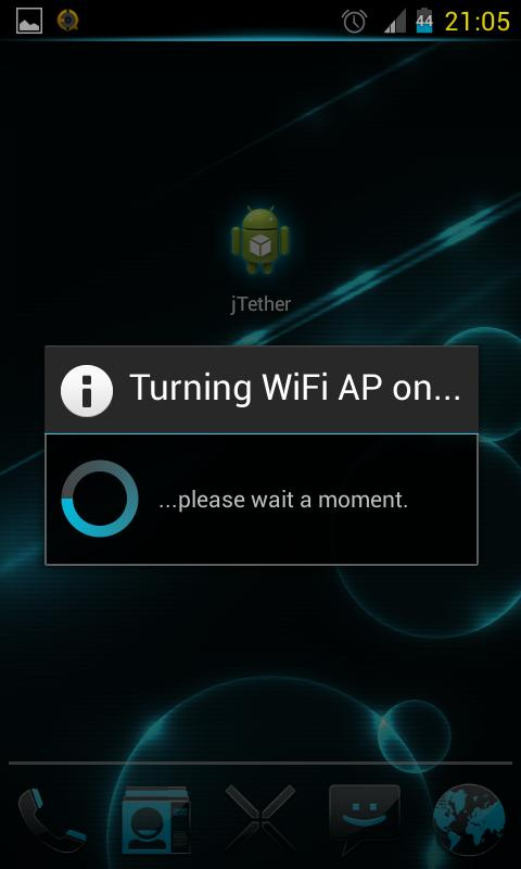 JB WiFi Tether - screenshot