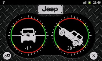 Screenshot of Jeep Inclinometer