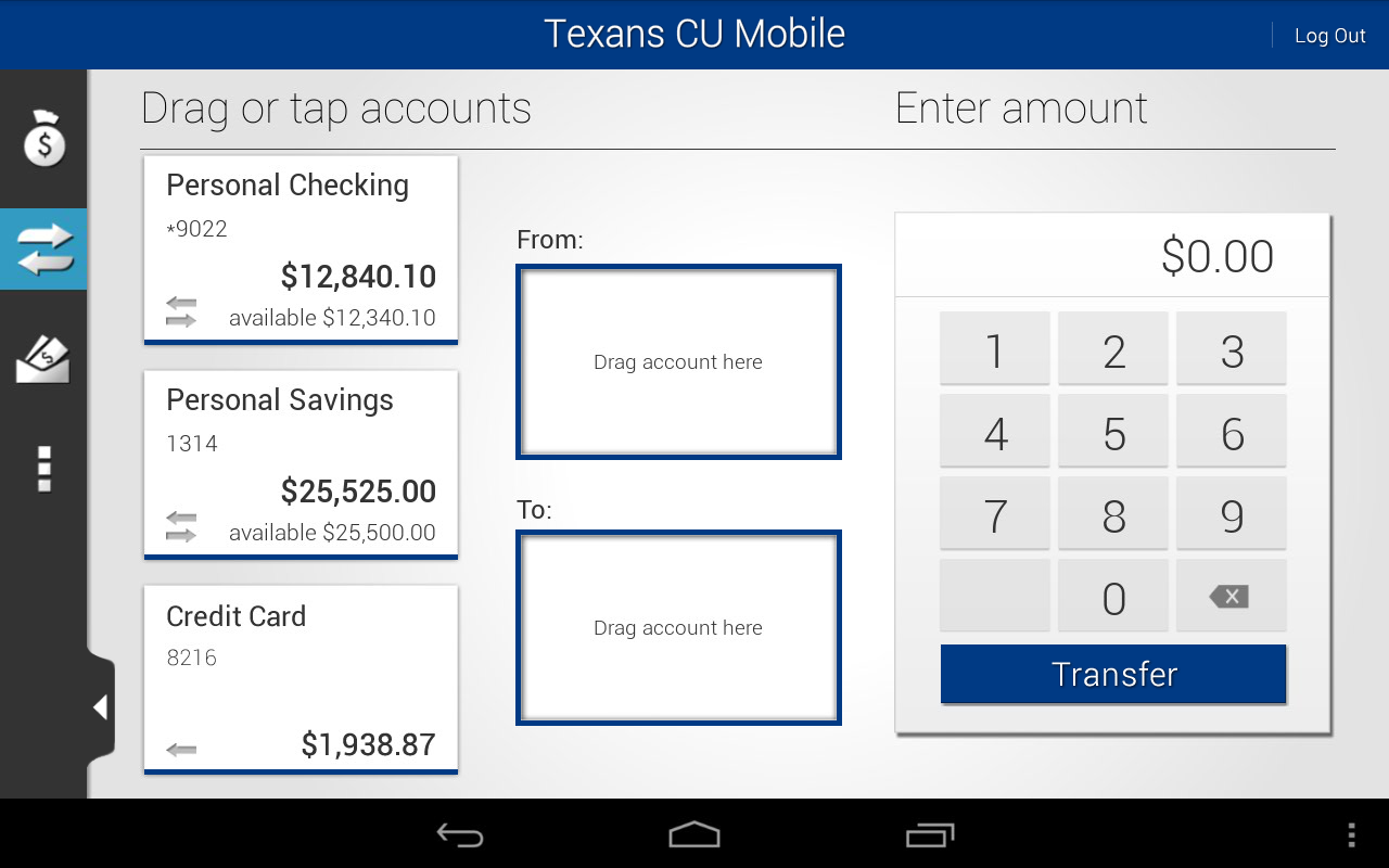 Texans CU Mobile - screenshot
