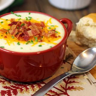 20 Minute Fully Loaded Cheesy Baked Potato Soup.