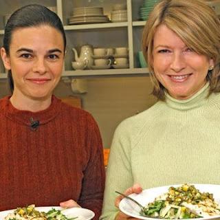 Grilled Halibut with Herb Salad and Meyer Lemon-Green Olive Salsa