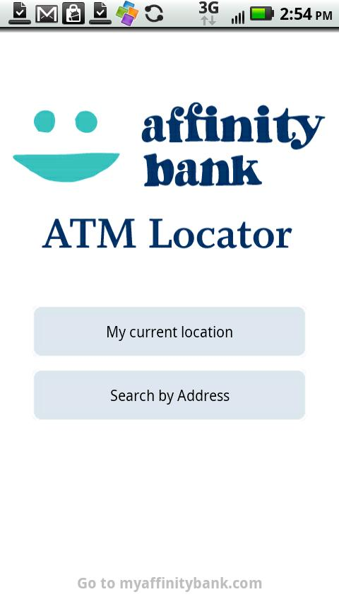 Affinity Bank ATM Locator - screenshot