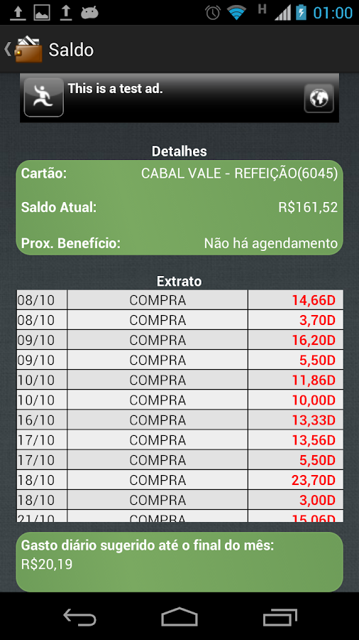 Consulta Vale - screenshot