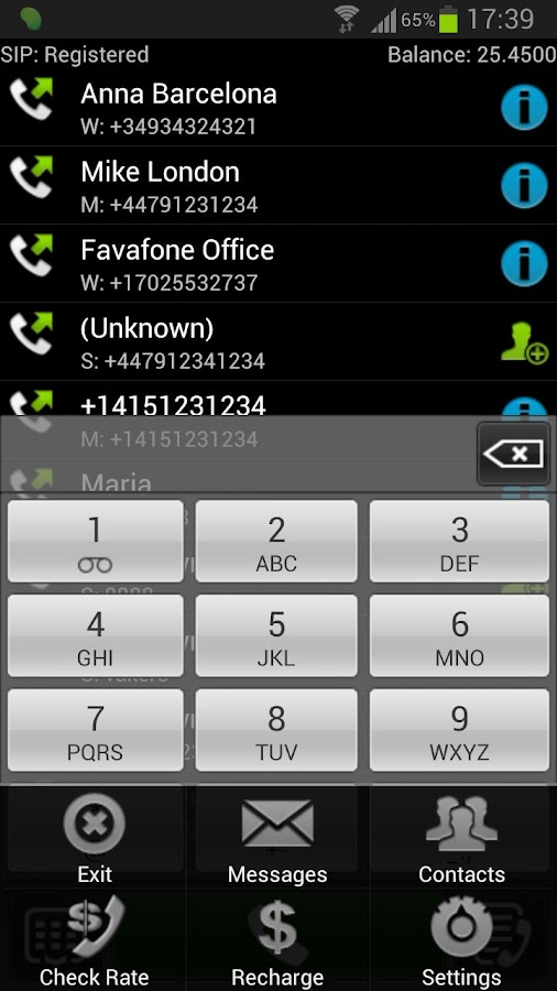Favafone Cheap Calls- screenshot