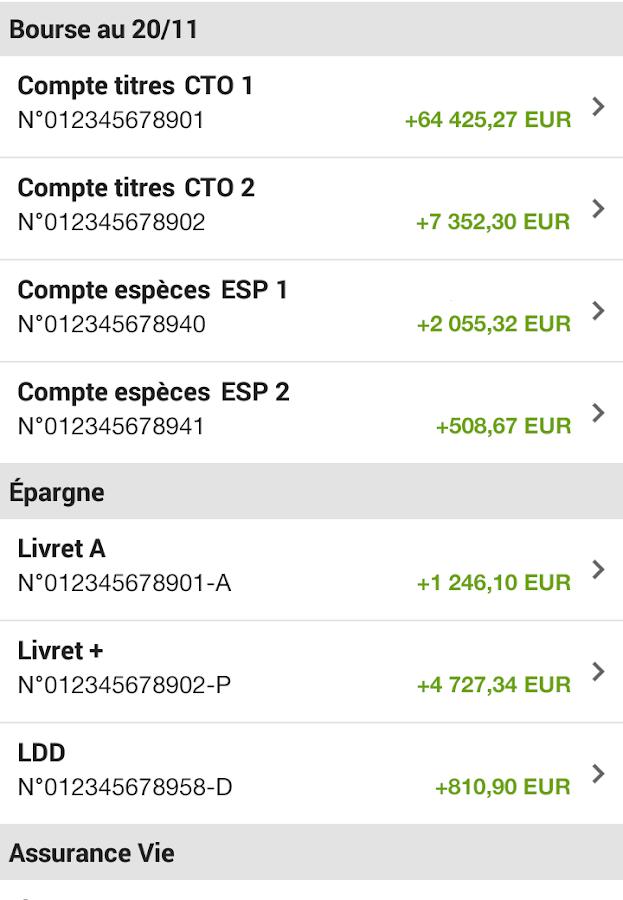 Fortuneo - screenshot