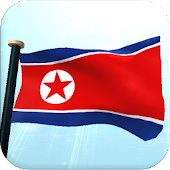 North Korea Flag 3D Free