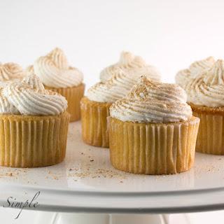 Eggnog Cupcakes with Rum Buttercream.