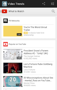 Video Trends - YouTube Videos