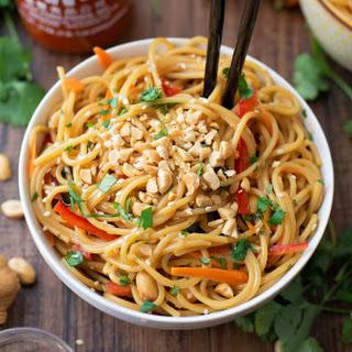 20 Minute Spicy Thai Noodle Bowls.