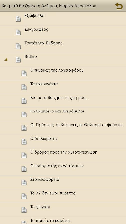 Και μετά θα ζήσω…, Μ.Αποστόλου - στιγμιότυπο οθόνης