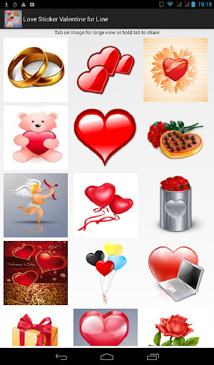Love Sticker Valentine to Line