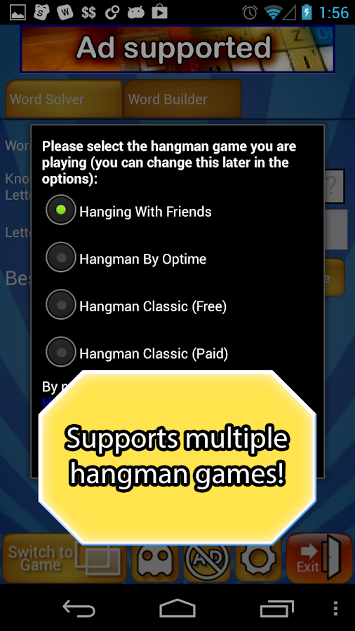 Hanging Helper for Friends - screenshot