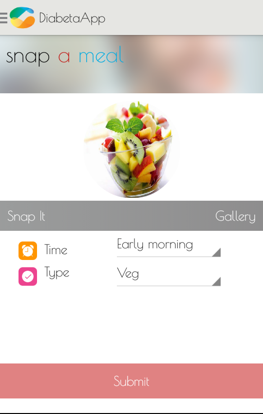 DiabetaApp- screenshot