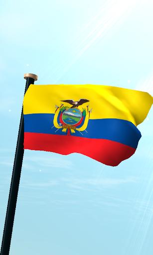 厄瓜多爾旗3D免費動態桌布