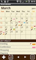Screenshot of NoteCalendar Free