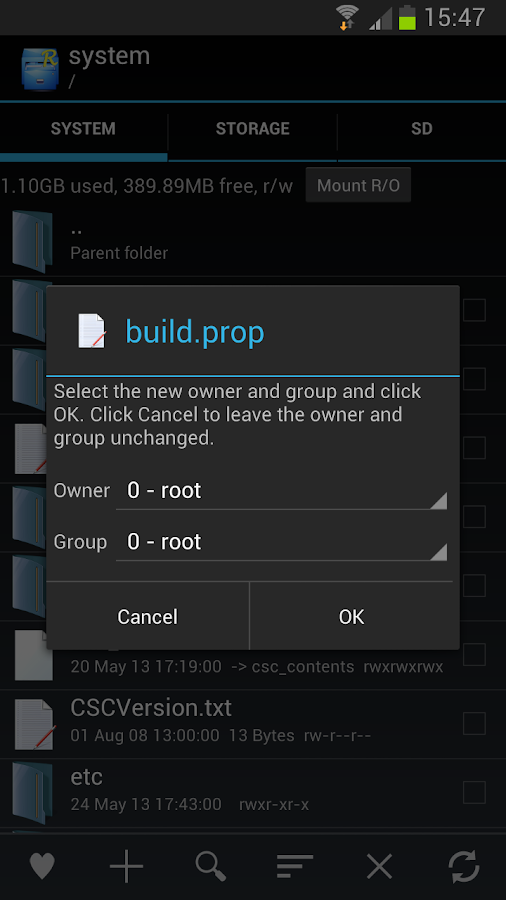 Root Explorer - screenshot