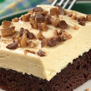 Irish Cream-Topped Brownie Dessert.