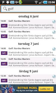 Sport på TV - screenshot thumbnail