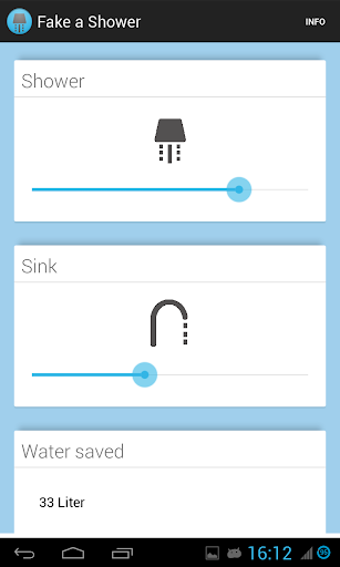 Fake a Shower - save water