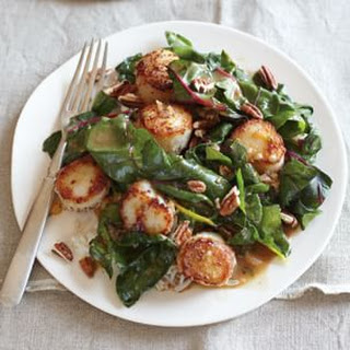 Sautéed Scallops and Swiss Chard