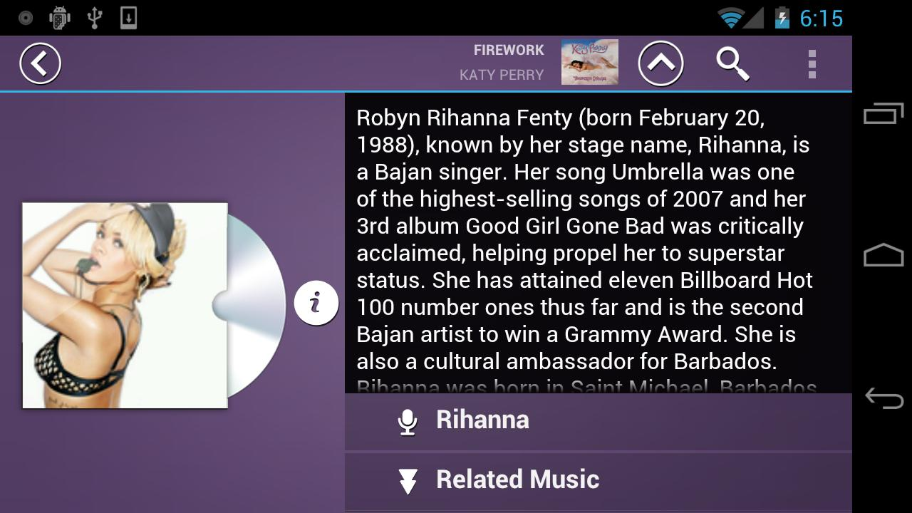 Fusion Music Player - screenshot