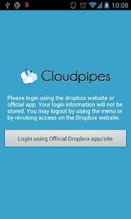 Cloudpipes for Dropbox - screenshot thumbnail