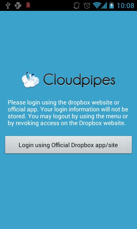 Cloudpipes for Dropbox- screenshot